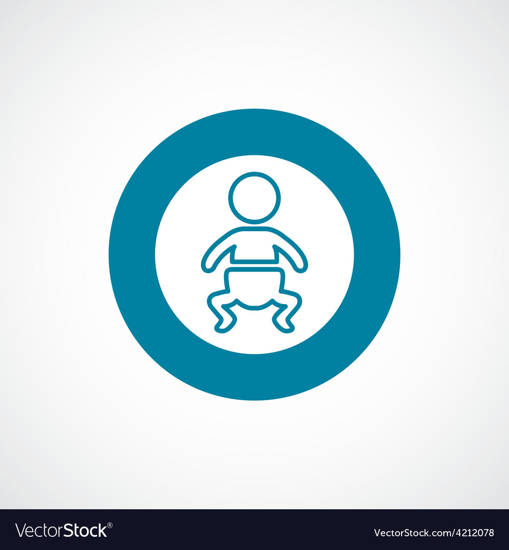 Baby icon bold blue circle border vector | Price: 1 Credit (USD $1)