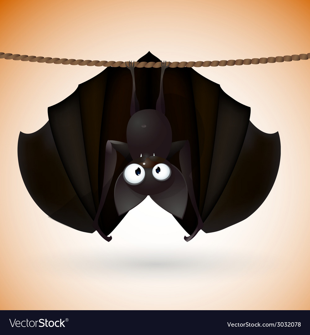 Bat funny - halloween vector   Price: 1 Credit (USD $1)