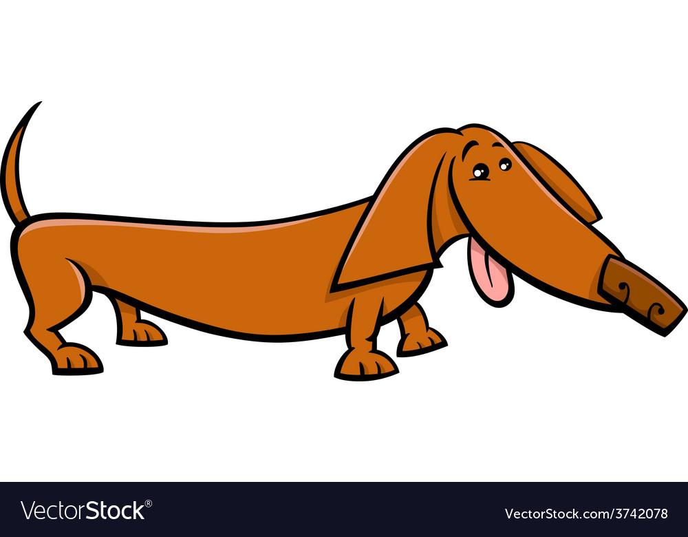 Dachshund dog cartoon vector | Price: 1 Credit (USD $1)