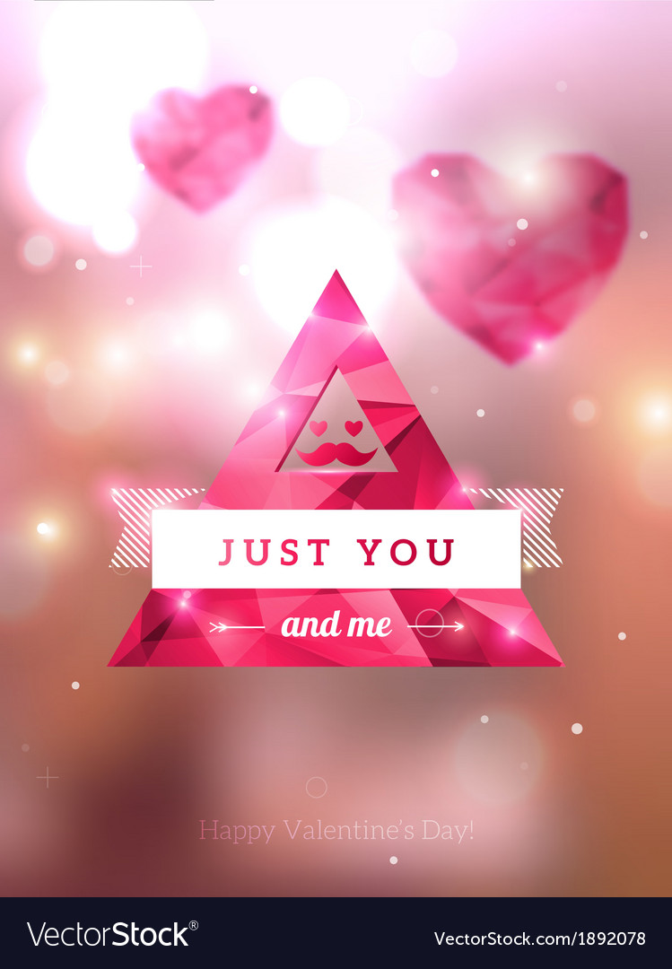 Diamond texture valentine card 02 vector | Price: 1 Credit (USD $1)