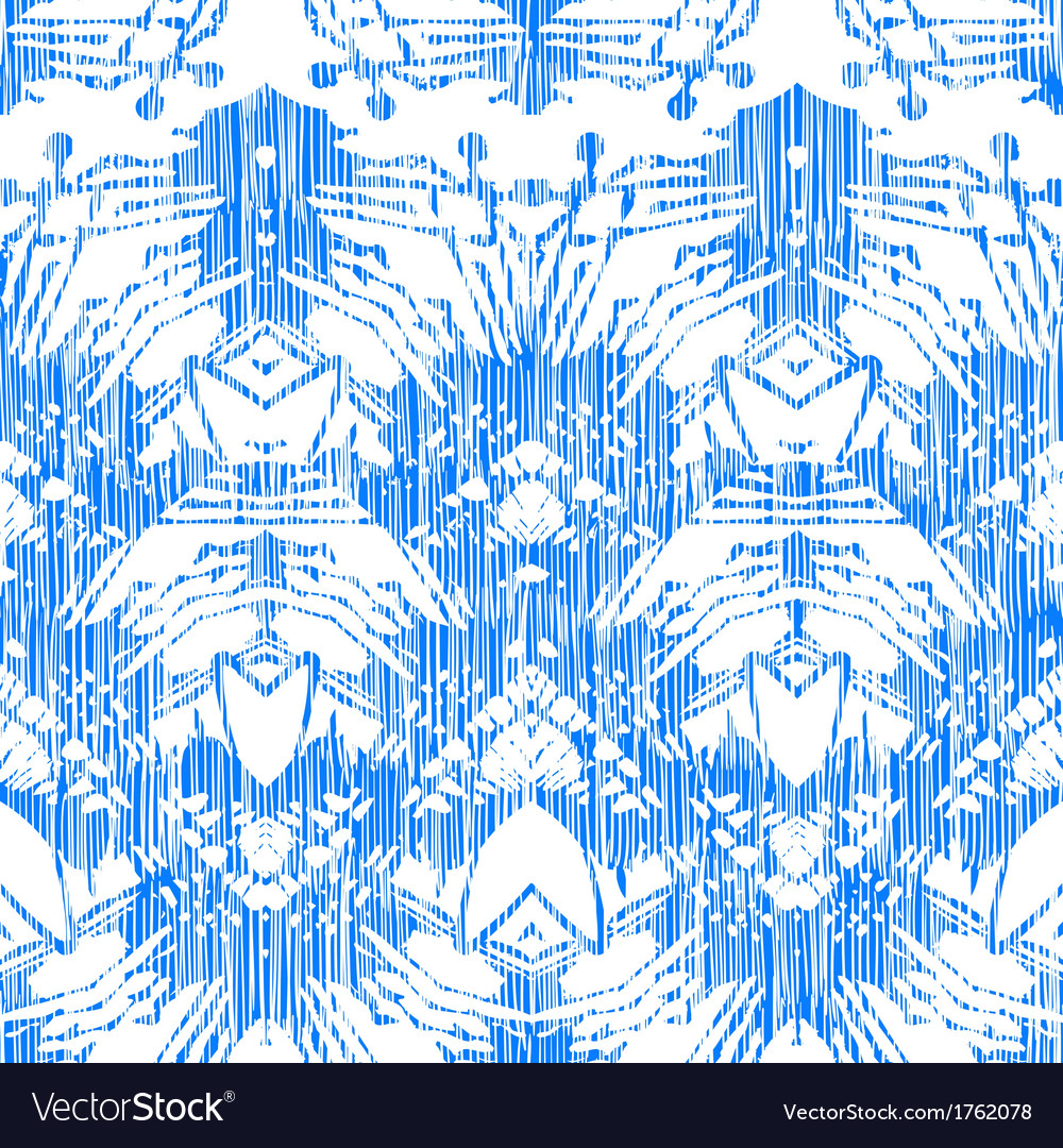Hand painted pattern with damask and ikat motifs vector | Price: 1 Credit (USD $1)