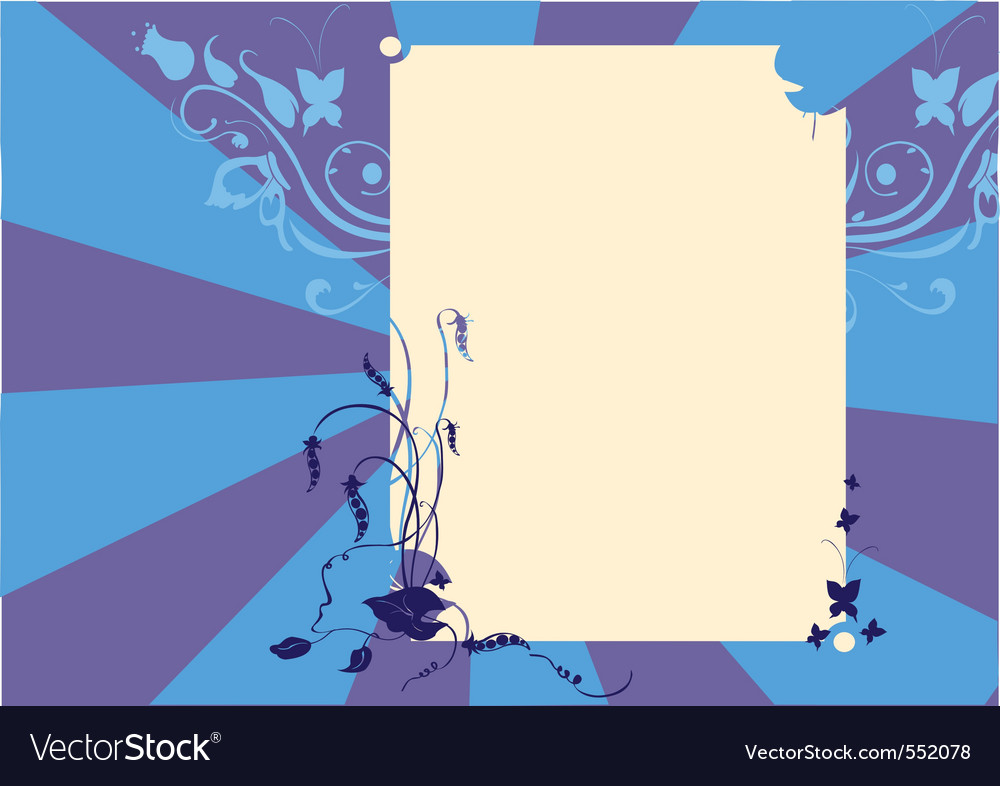 illustraition of funky abstract floral bord vector | Price: 1 Credit (USD $1)