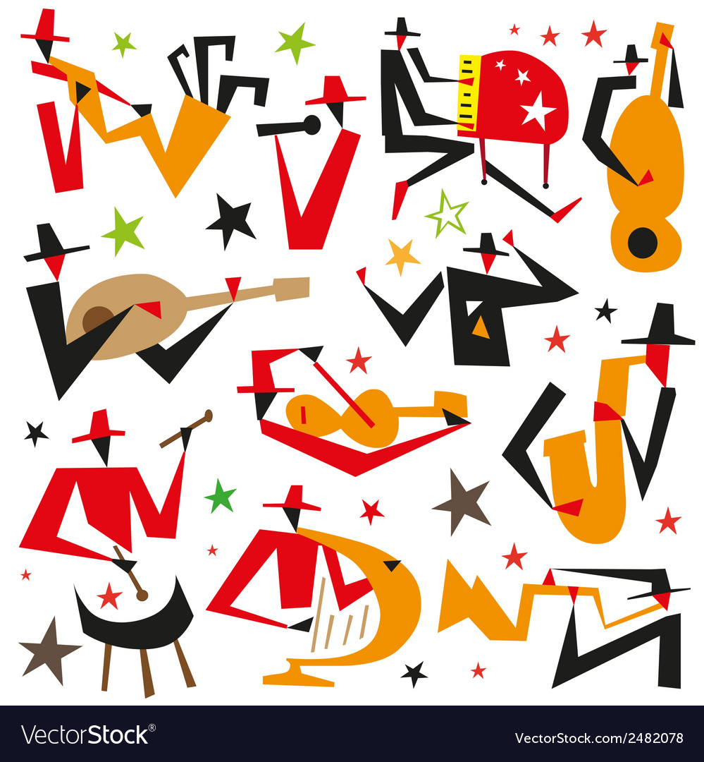 Jazz musicians vector | Price: 1 Credit (USD $1)