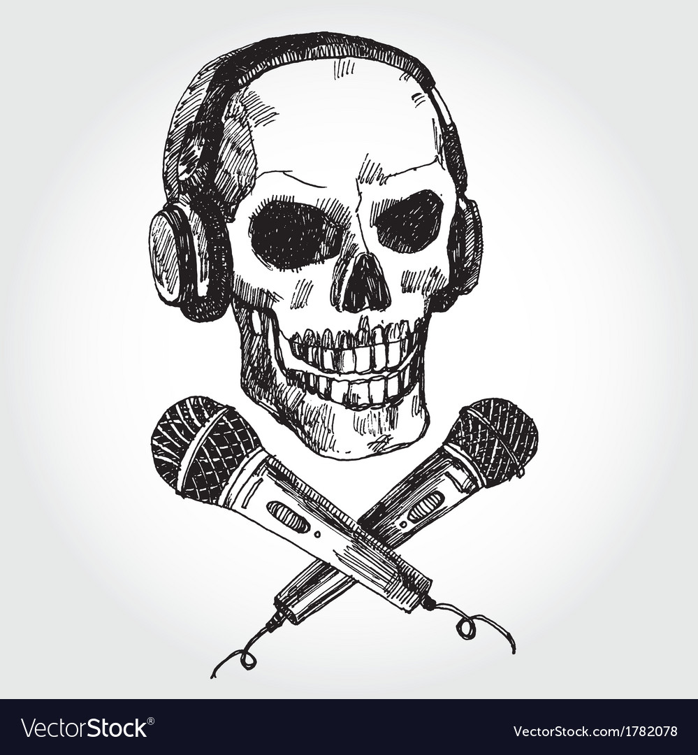 Music scull vector | Price: 1 Credit (USD $1)
