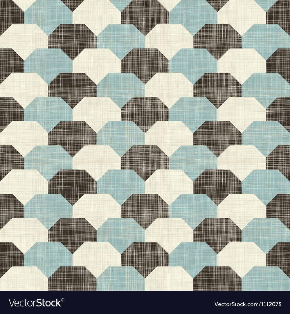 Retro hexagonal pattern vector | Price: 1 Credit (USD $1)
