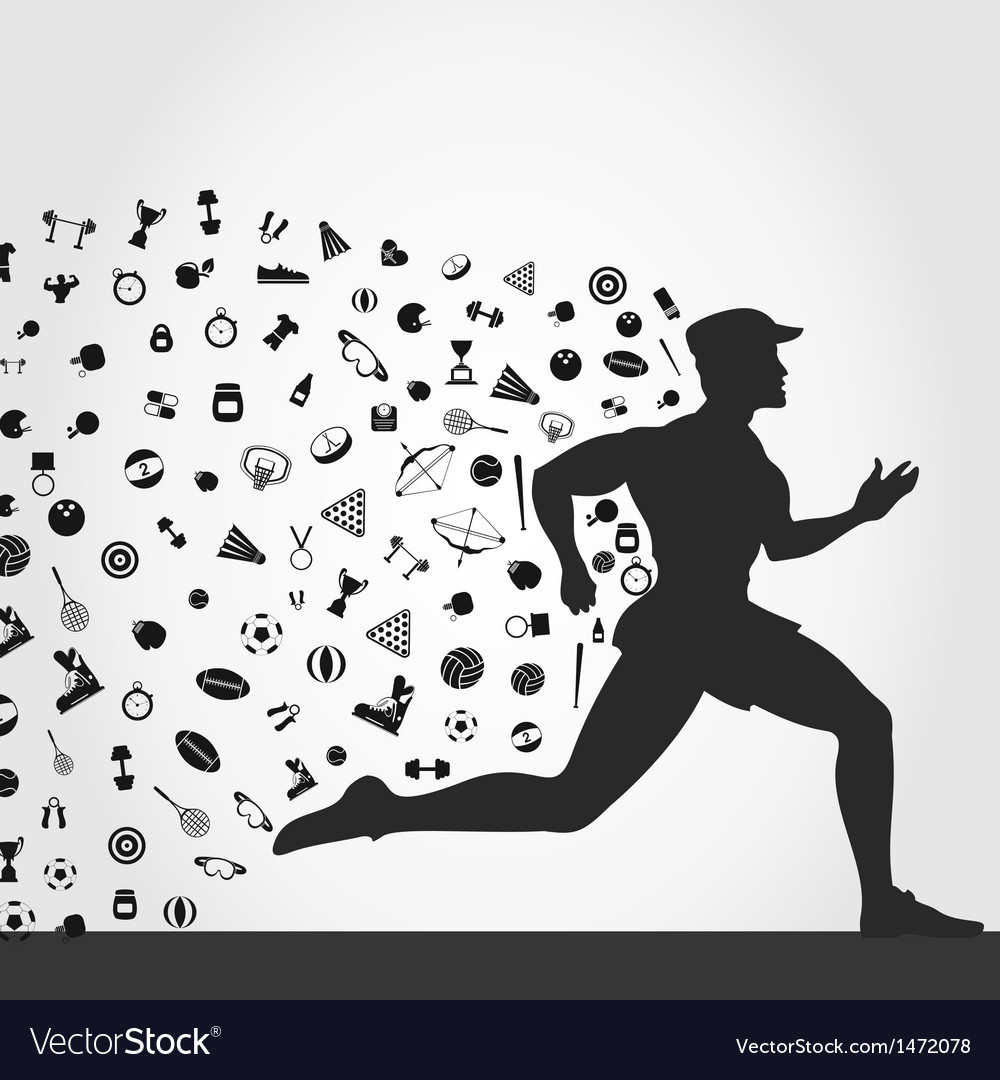 Runner sports vector | Price: 1 Credit (USD $1)