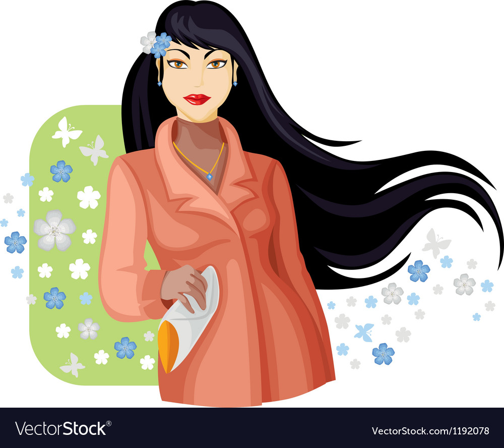 Spring lady vector | Price: 3 Credit (USD $3)