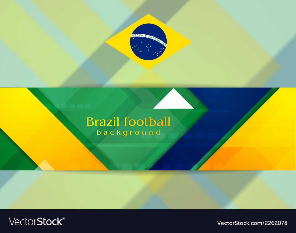 Tech geometry background in brazilian colors vector | Price: 1 Credit (USD $1)