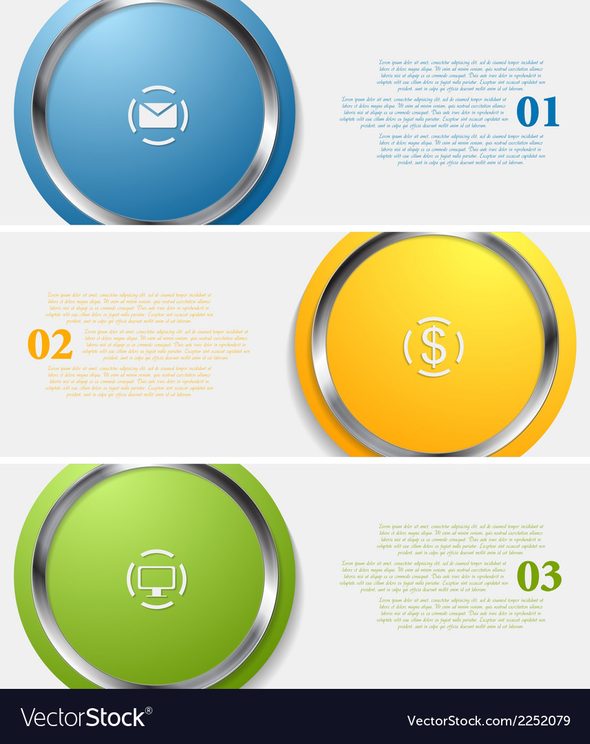 Abstract infographic tech banners vector | Price: 1 Credit (USD $1)