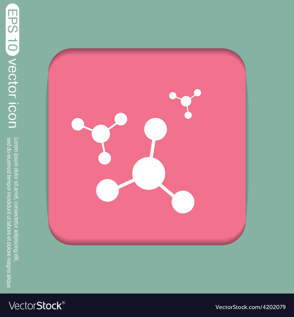 Atom molecule symbol icon of physics or chemistry vector | Price: 1 Credit (USD $1)