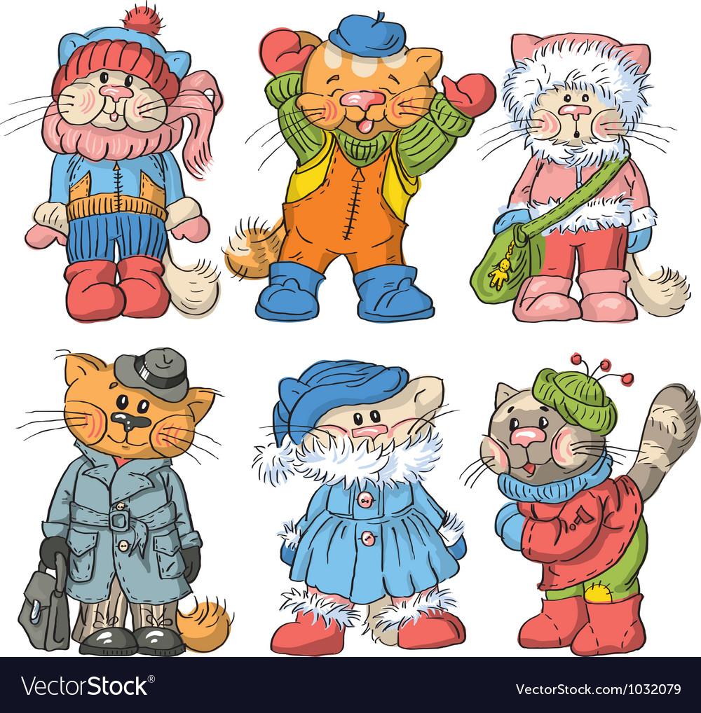 Cartoon cats vector | Price: 5 Credit (USD $5)