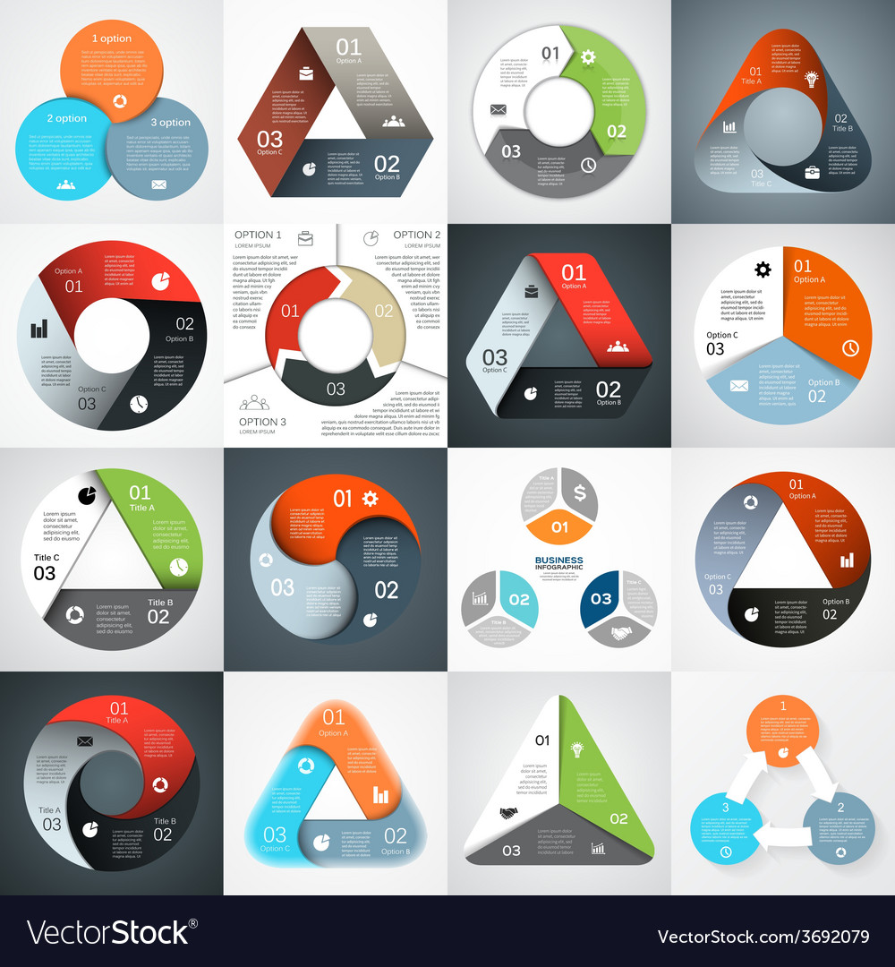 Circle infographic diagram graph presentation vector | Price: 1 Credit (USD $1)