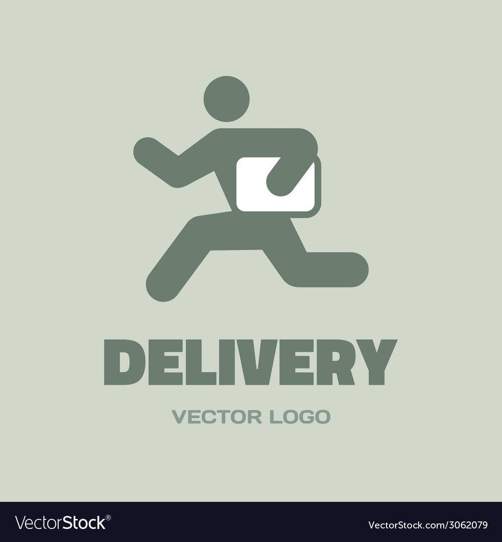 Delivery man - logo concept vector | Price: 1 Credit (USD $1)