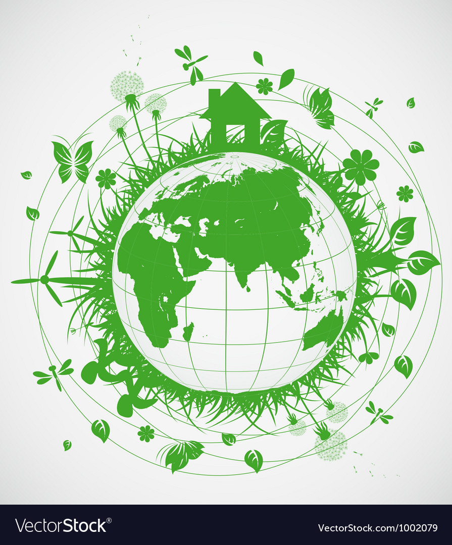 Ecological planet vector   Price: 1 Credit (USD $1)