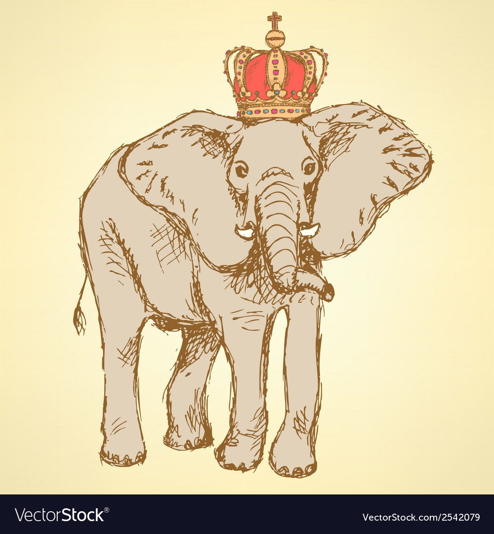 Elephant crown vector | Price: 1 Credit (USD $1)