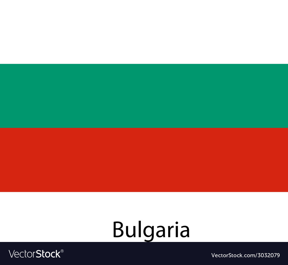 Flag of the country bulgaria vector | Price: 1 Credit (USD $1)