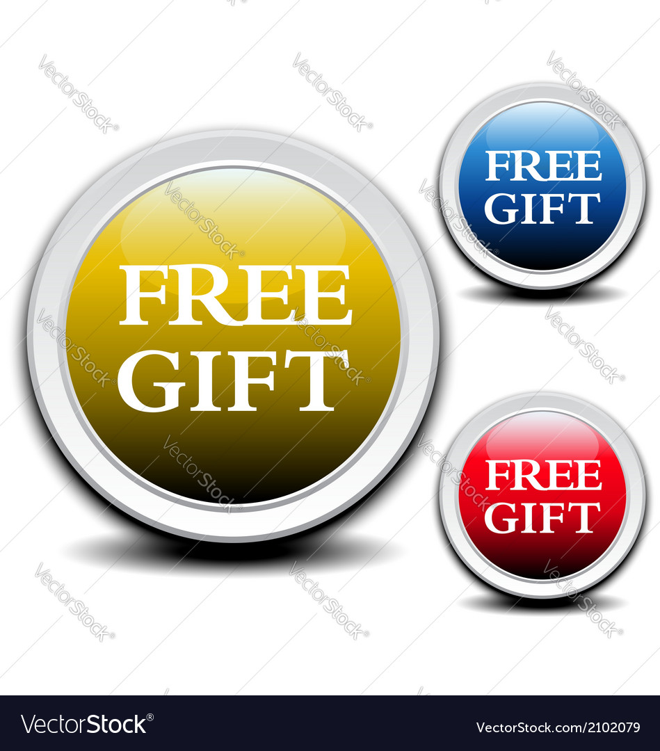 Free gift labels vector | Price: 1 Credit (USD $1)