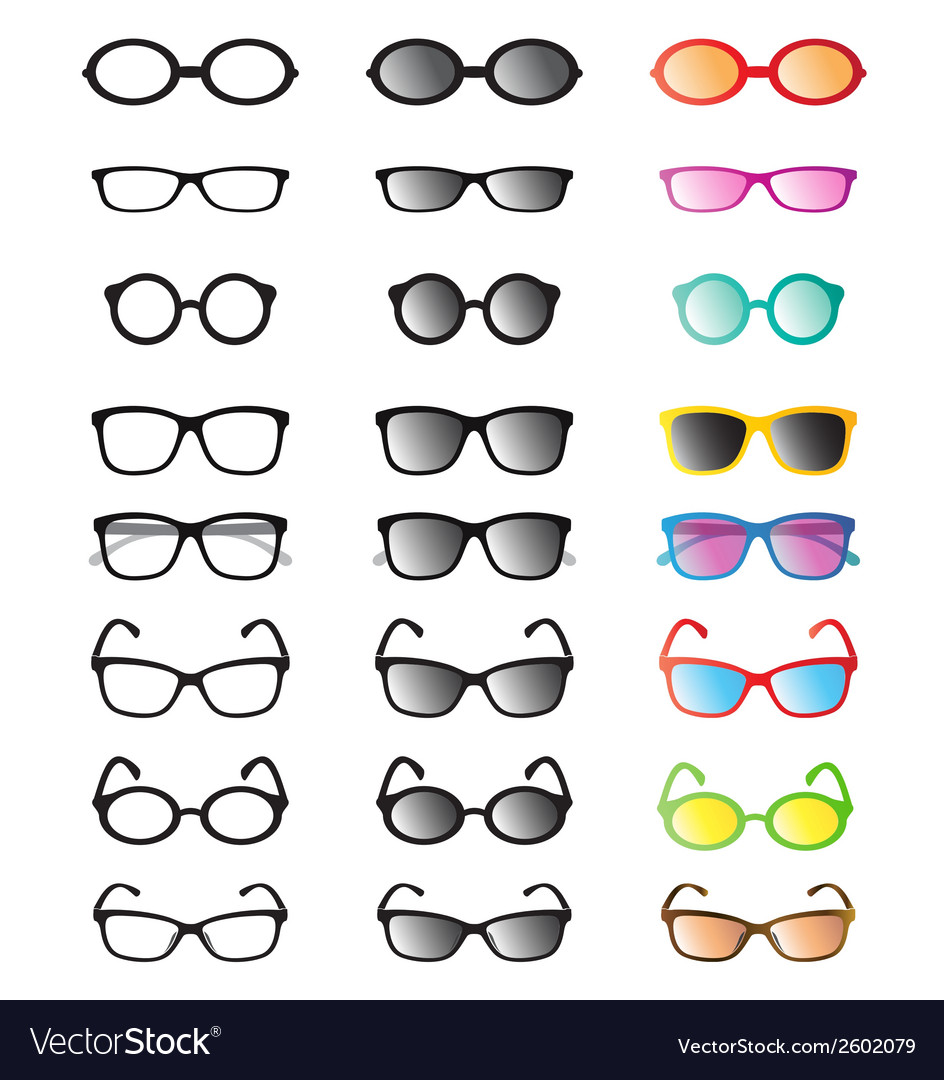 Glasses and sunglasses vector | Price: 1 Credit (USD $1)