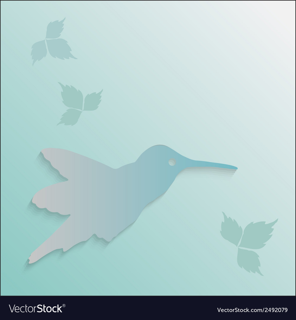 Hummingbird silhouette vector | Price: 1 Credit (USD $1)