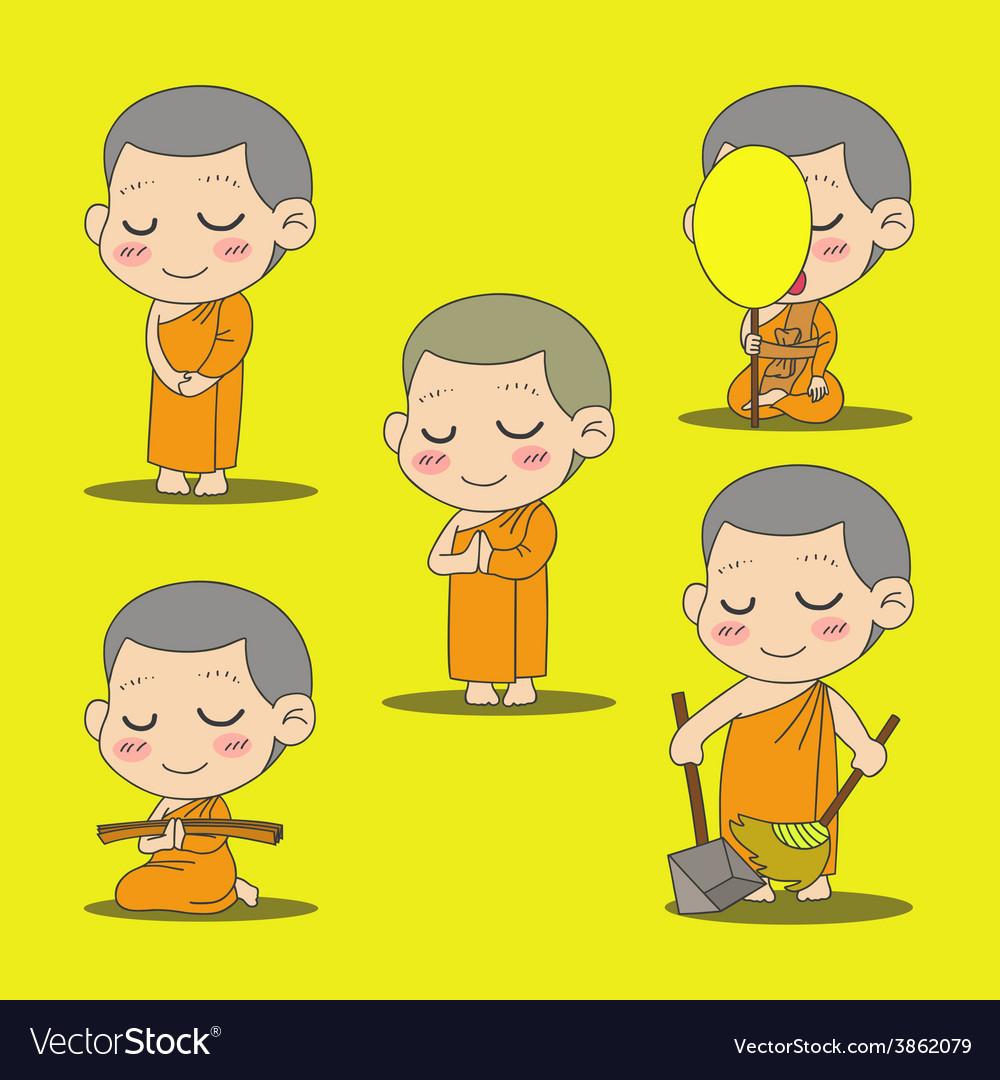 Monk 2 vector | Price: 1 Credit (USD $1)