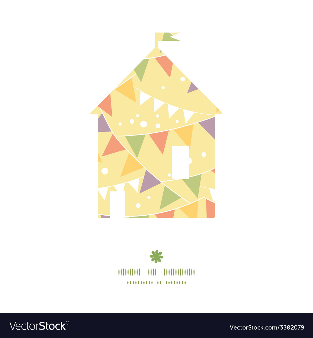 Party decorations bunting house silhouette pattern vector | Price: 1 Credit (USD $1)