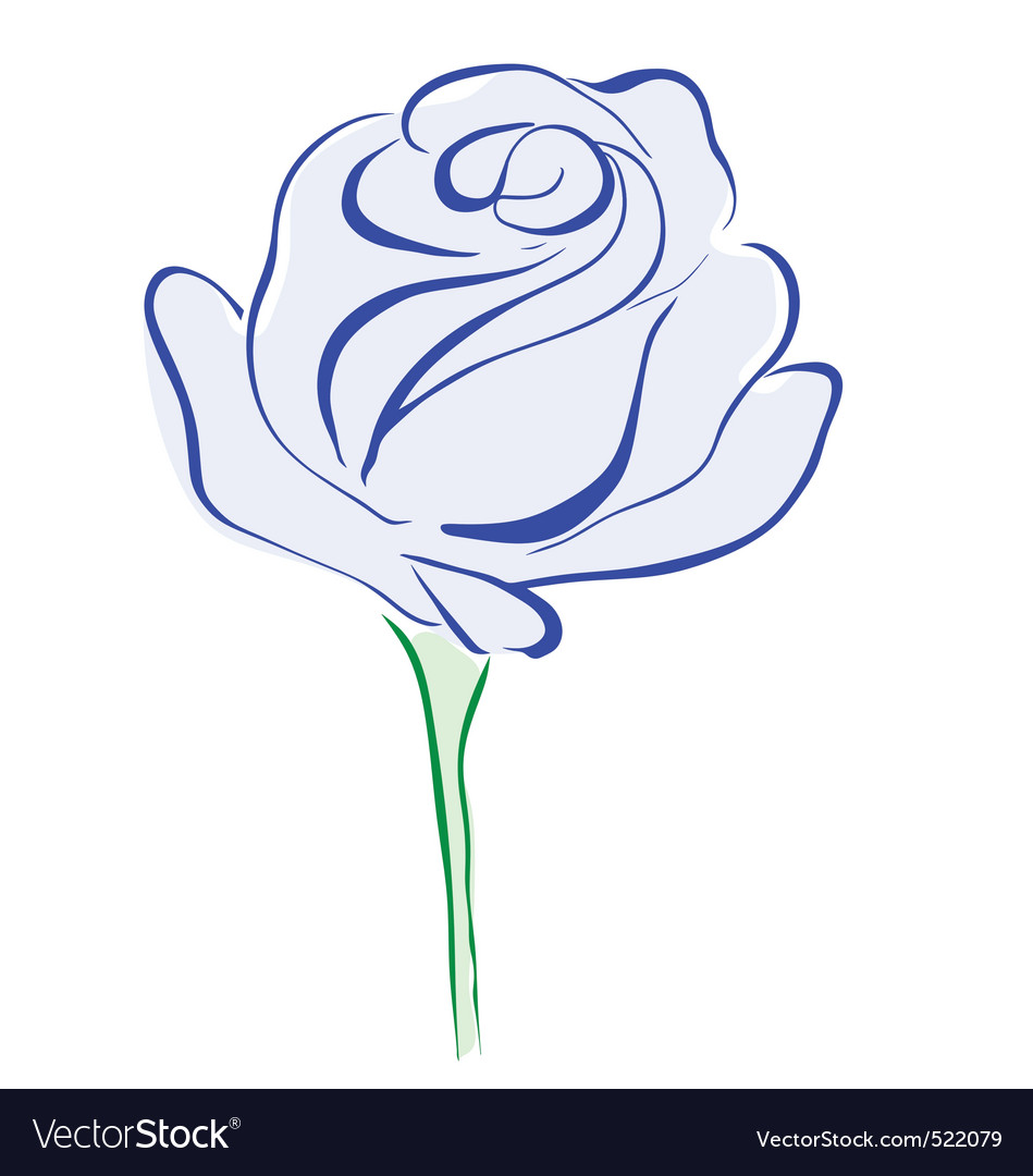 Rose blue vector | Price: 1 Credit (USD $1)