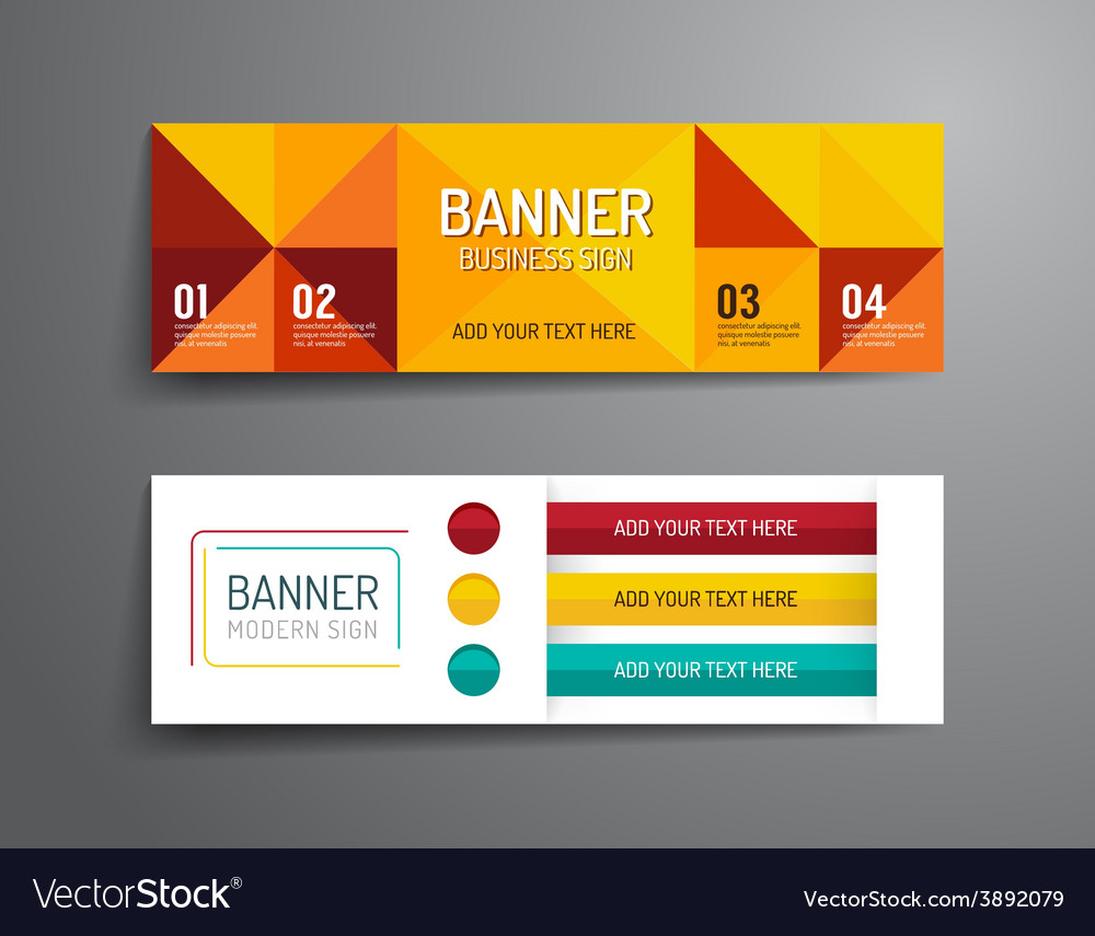 Set of banner template design graphic or website vector | Price: 1 Credit (USD $1)