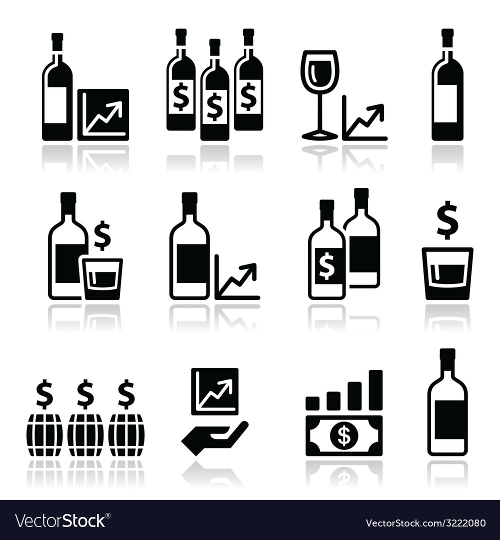 Alternative investments - investing money in wine vector | Price: 1 Credit (USD $1)