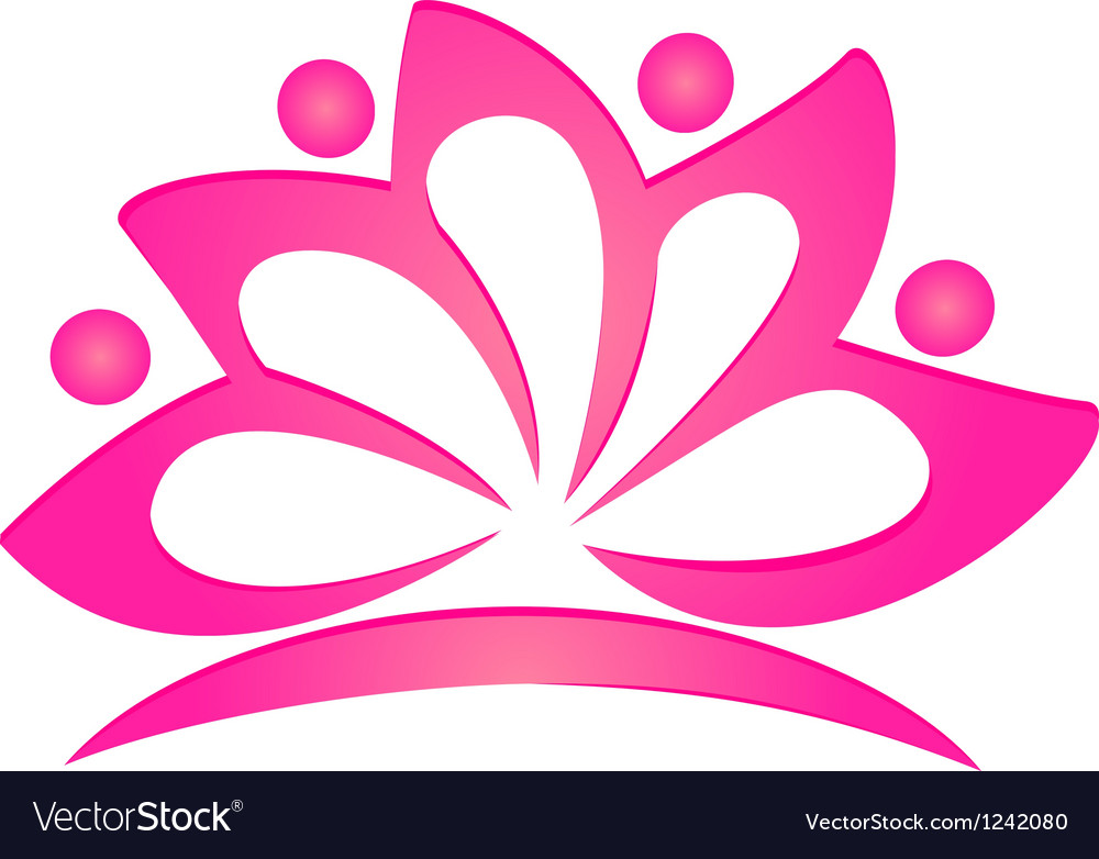 Lotus flower logo vector | Price: 1 Credit (USD $1)