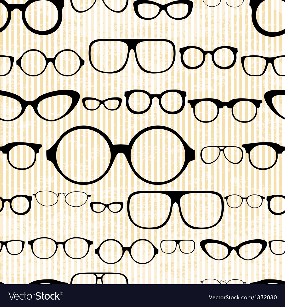 Seamless pattern from glasses in vintage style vector | Price: 1 Credit (USD $1)