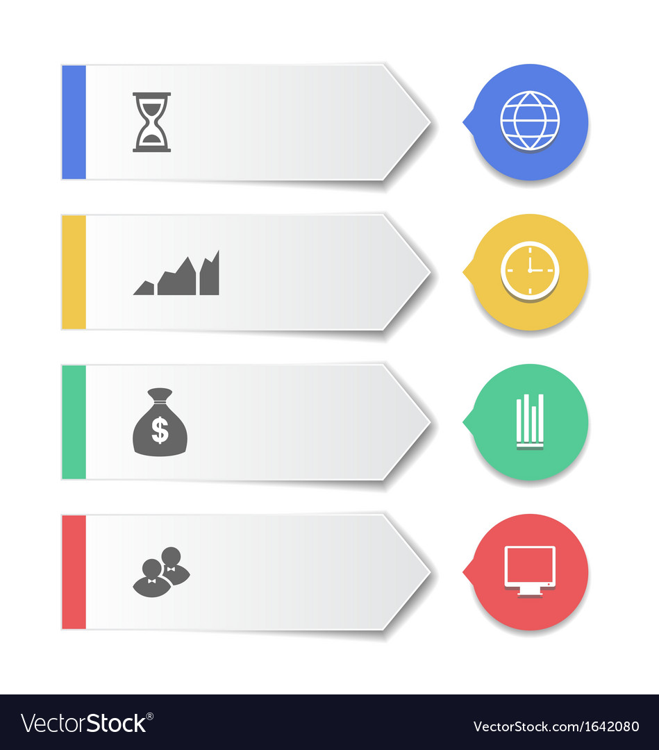 Set modern business banners with infographic icons vector | Price: 1 Credit (USD $1)