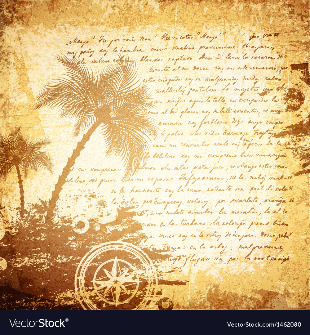 Vintage travel letter vector | Price: 1 Credit (USD $1)
