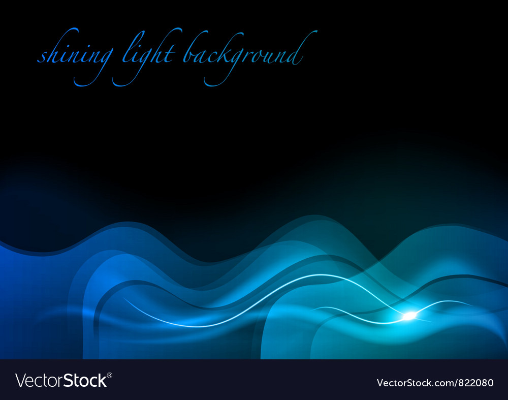 Wave neon light dark blue vector | Price: 1 Credit (USD $1)