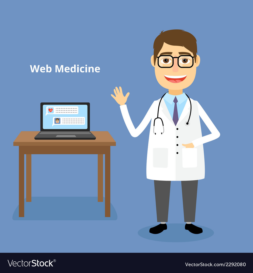 Web medicine concept vector | Price: 1 Credit (USD $1)