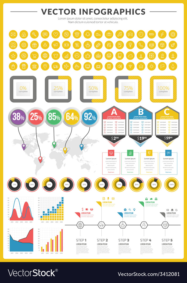 Big pack of data visualization infographics and vector   Price: 1 Credit (USD $1)
