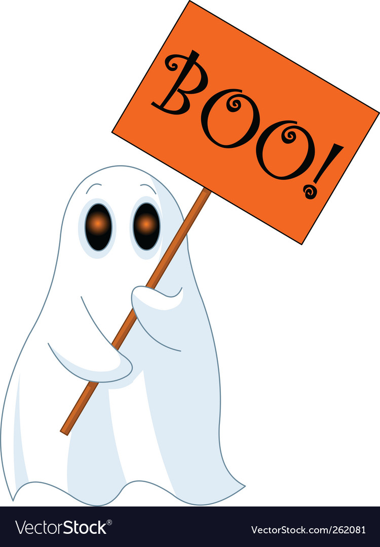 Cartoon ghost vector | Price: 1 Credit (USD $1)