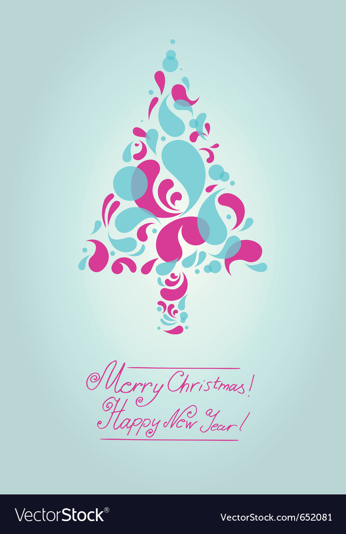 Decorative christmas tree background vector | Price: 1 Credit (USD $1)