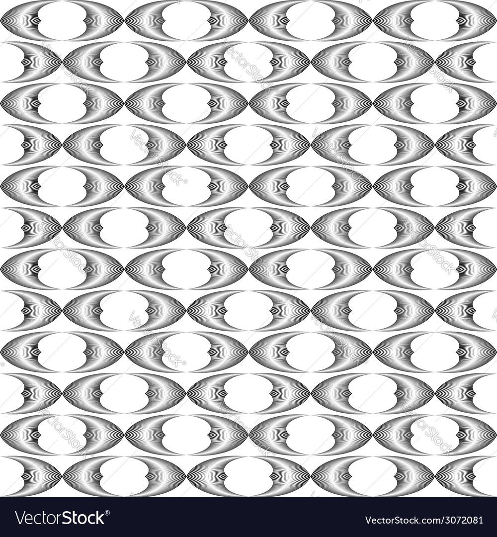 Design seamless monochrome grid pattern vector | Price: 1 Credit (USD $1)