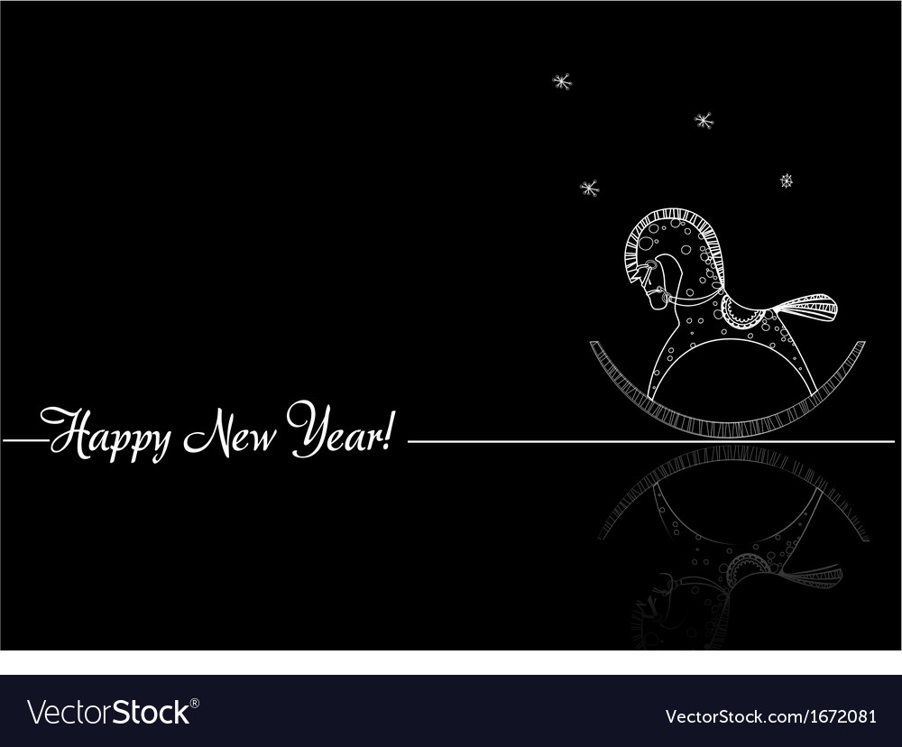 Greetings for the new year vector | Price: 1 Credit (USD $1)