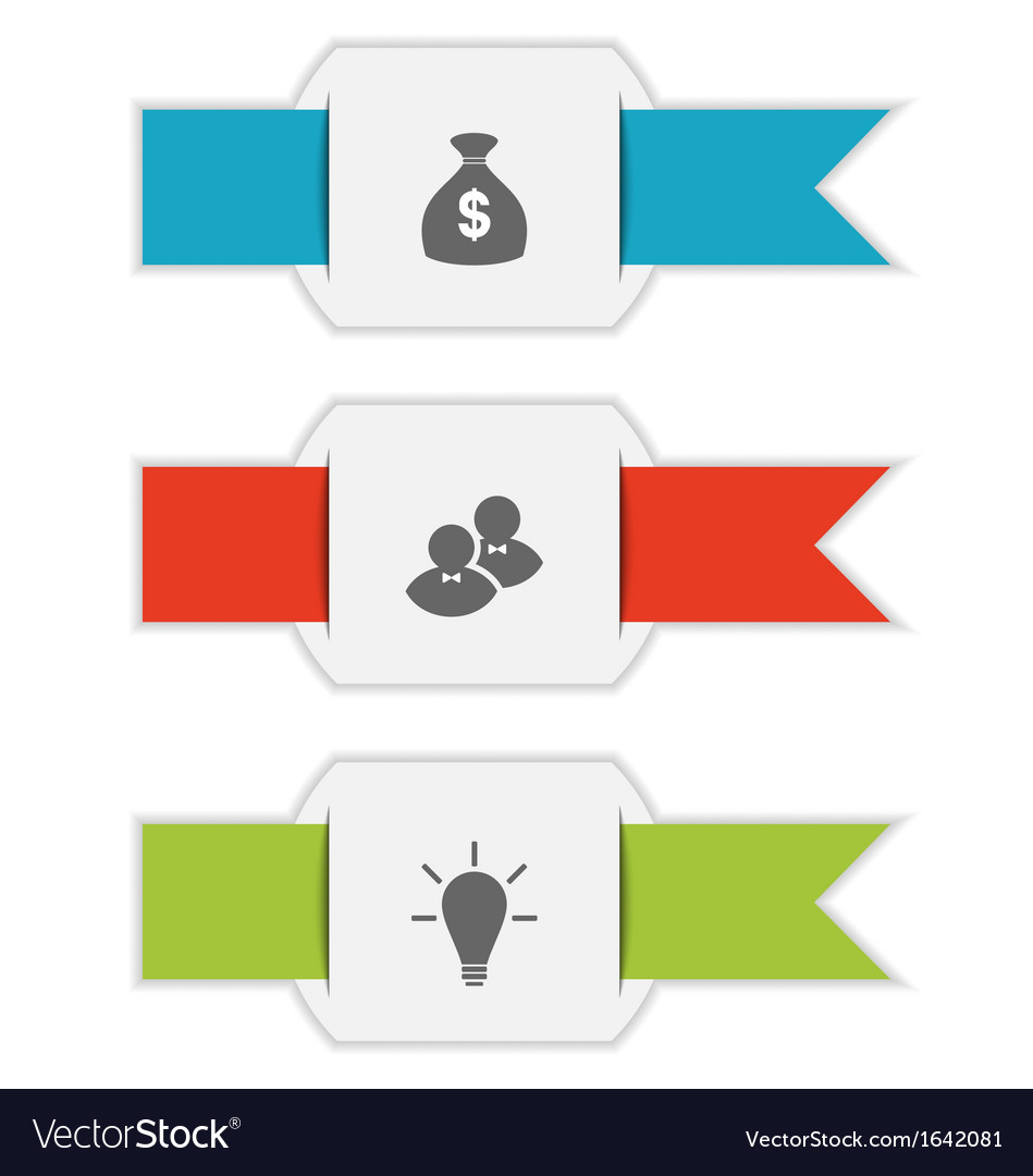 Group paper brochures with infographic icons vector | Price: 1 Credit (USD $1)