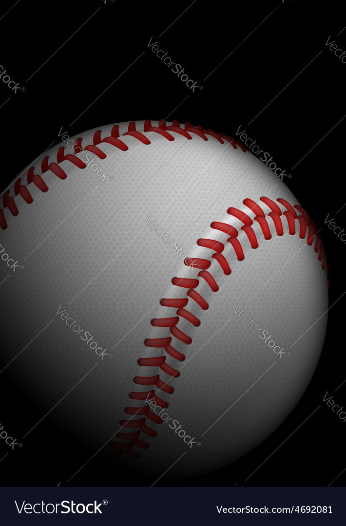 High detailed baseball vector | Price: 1 Credit (USD $1)
