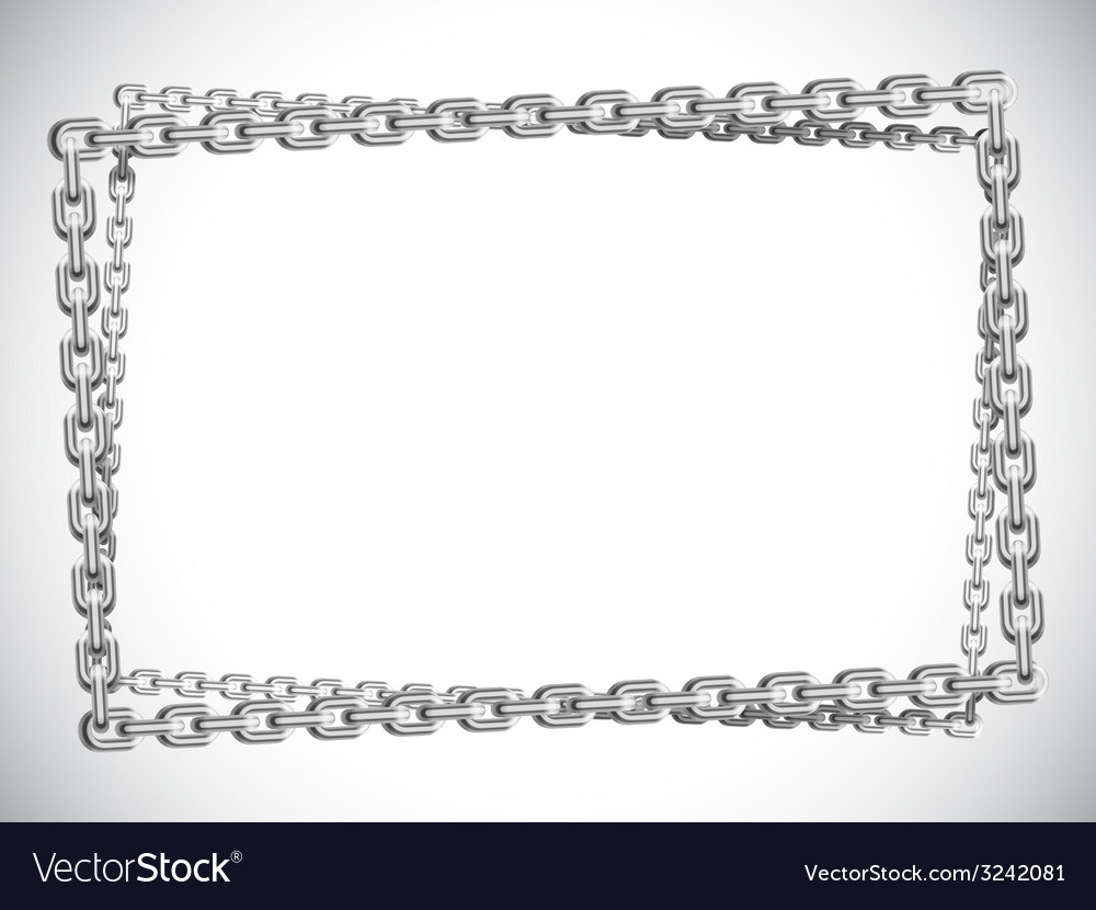 Metal chain frame vector | Price: 1 Credit (USD $1)