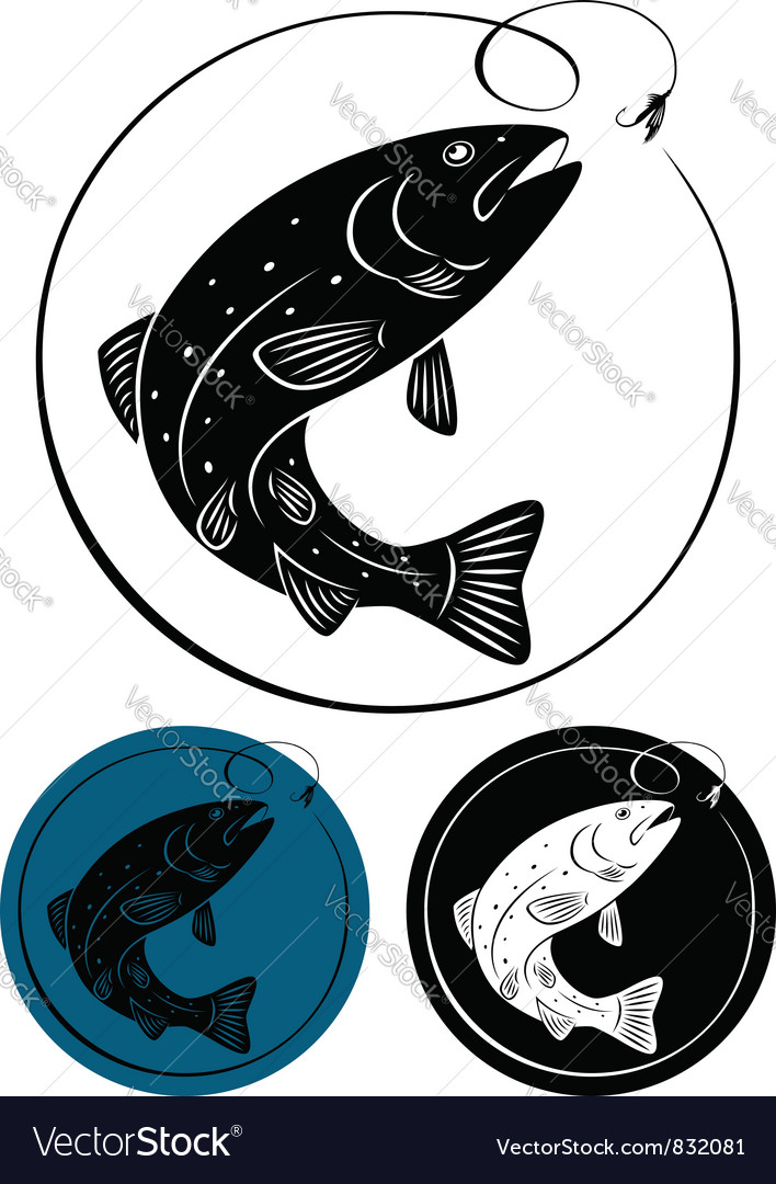 Trout fish vector | Price: 1 Credit (USD $1)