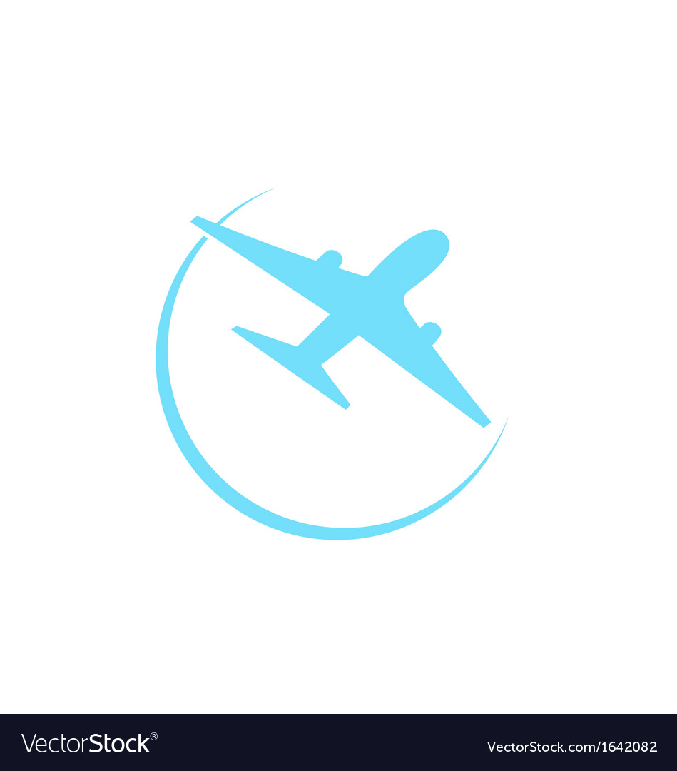 Airplane symbol isolated on white background vector | Price: 1 Credit (USD $1)