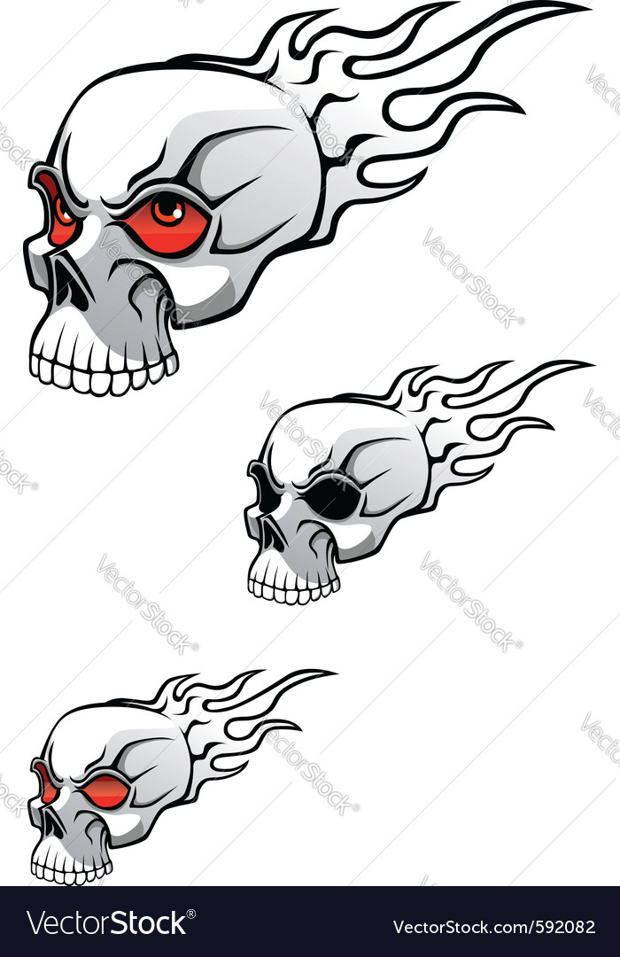 Danger evil skull vector | Price: 1 Credit (USD $1)