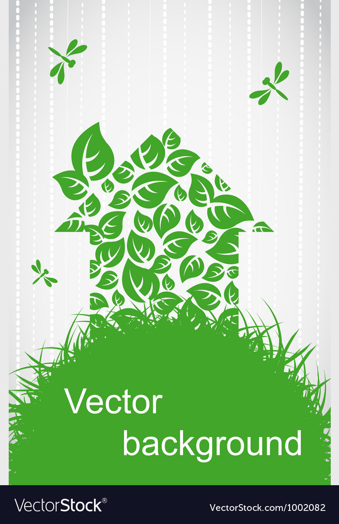 Ecological house vector | Price: 1 Credit (USD $1)