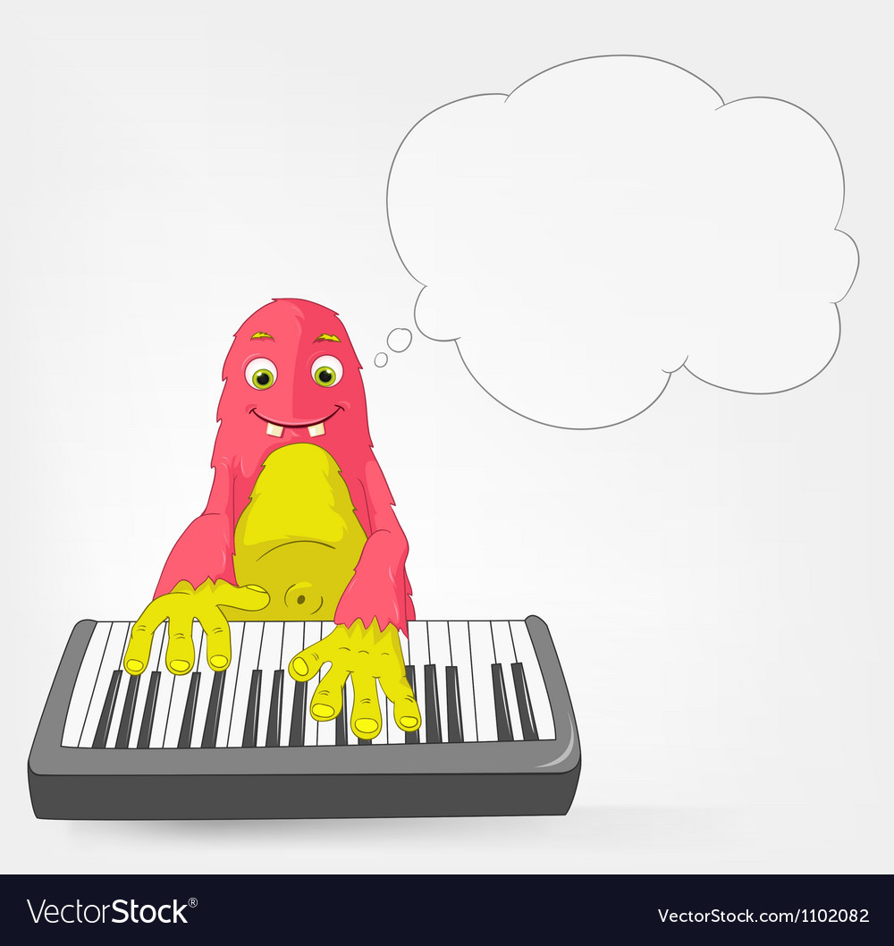 Funny monster pianist vector | Price: 3 Credit (USD $3)