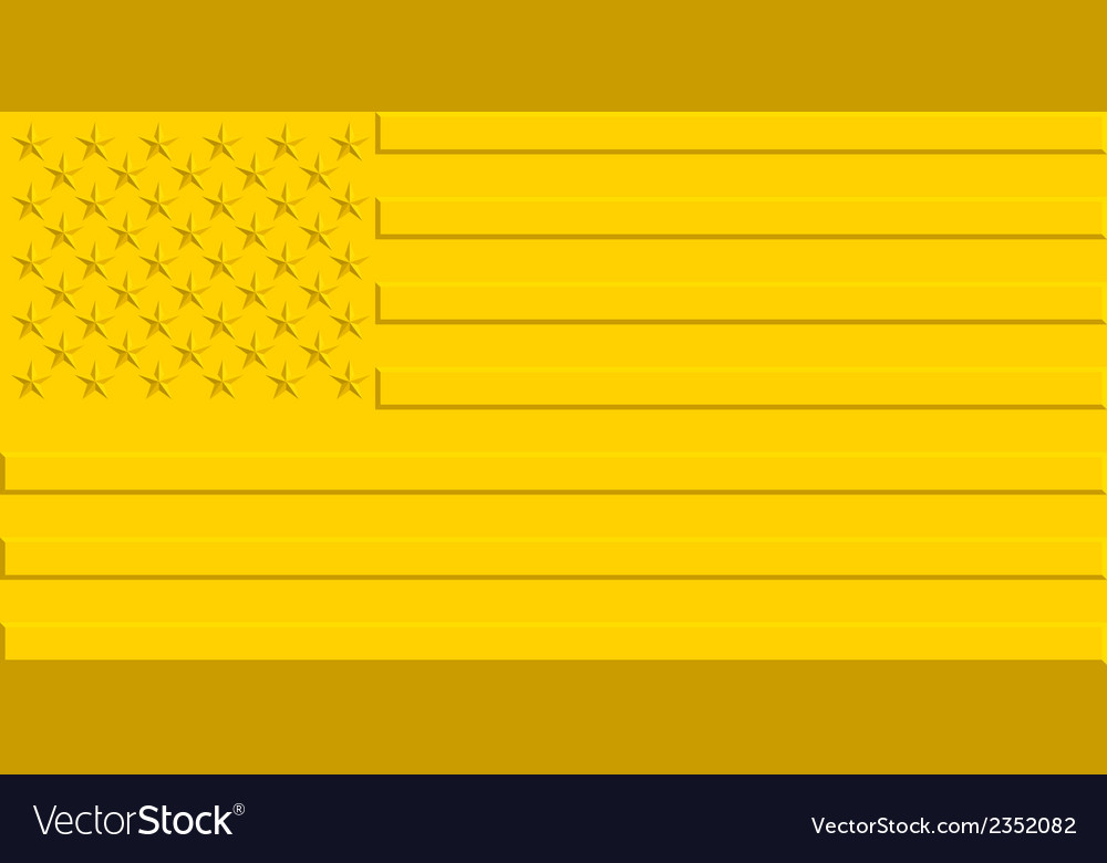 Gold usa flag vector | Price: 1 Credit (USD $1)