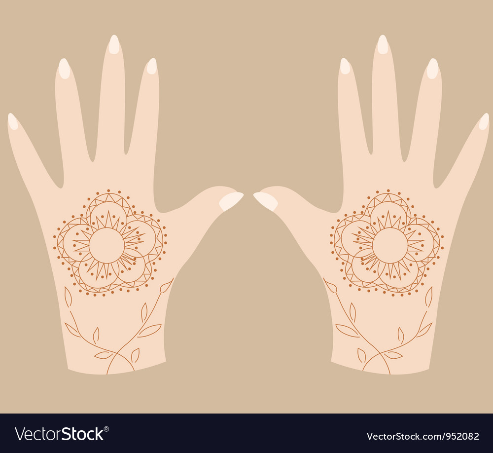 Hands with henna 2 vector | Price: 1 Credit (USD $1)