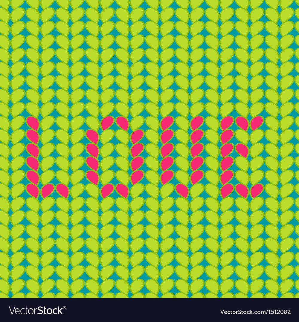 Knitted love seamless pattern vector | Price: 1 Credit (USD $1)